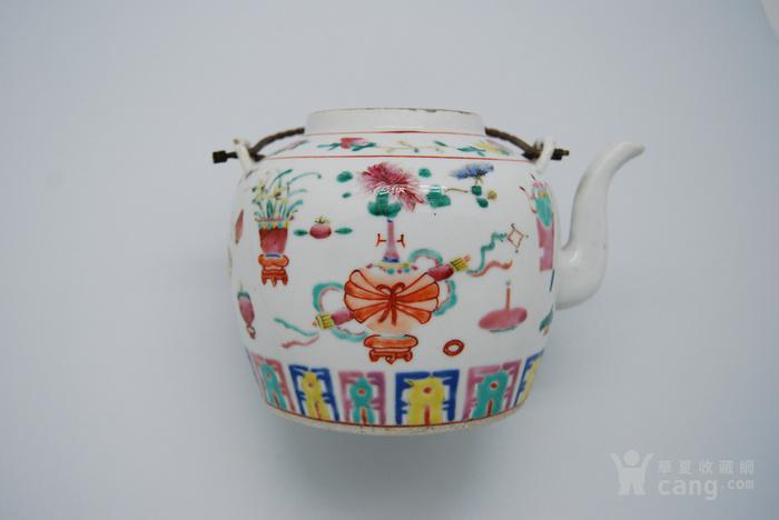 清 粉彩八宝纹茶壶d70图7
