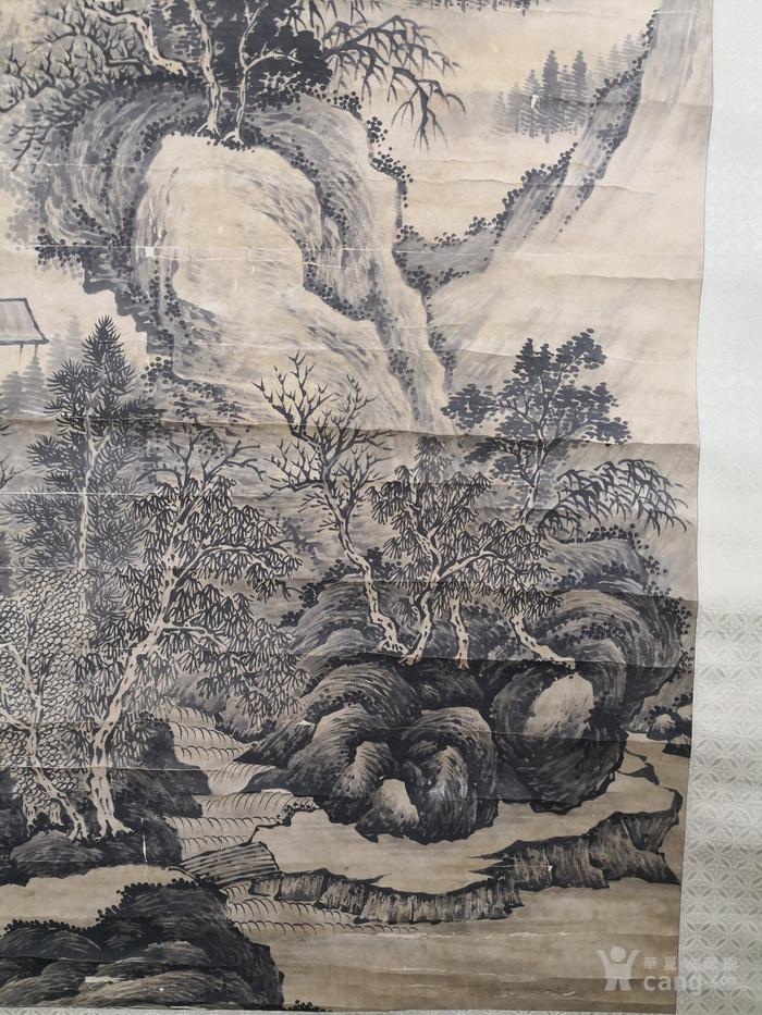 华夏古玩城 字画 古代 > 程嘉遂山水风景画  年代:明 款式:条幅 品相