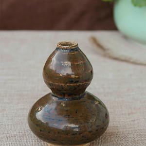 南宋建宁窑酱釉葫芦瓶