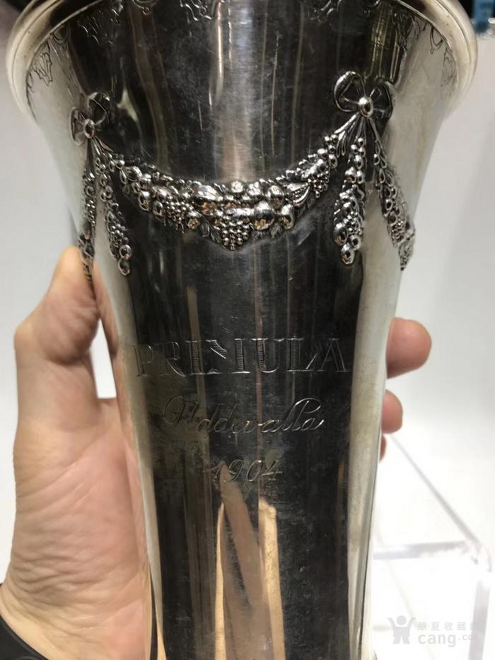 欧洲古董纯银花瓶图2