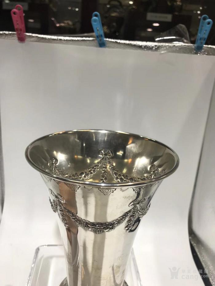 欧洲古董纯银花瓶图3