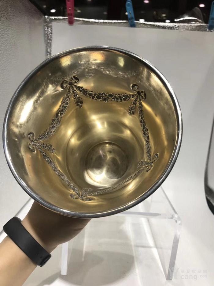 欧洲古董纯银花瓶图4