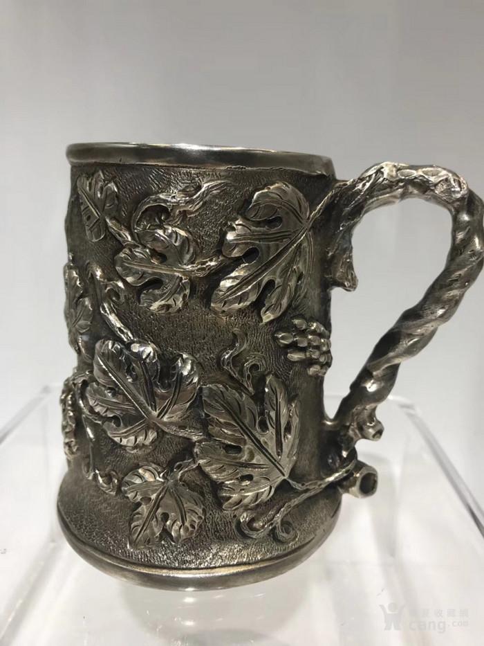 罕有19世纪意大利古董大银杯图1