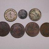 中�A苏维埃1分五分贰*七枚银铜币