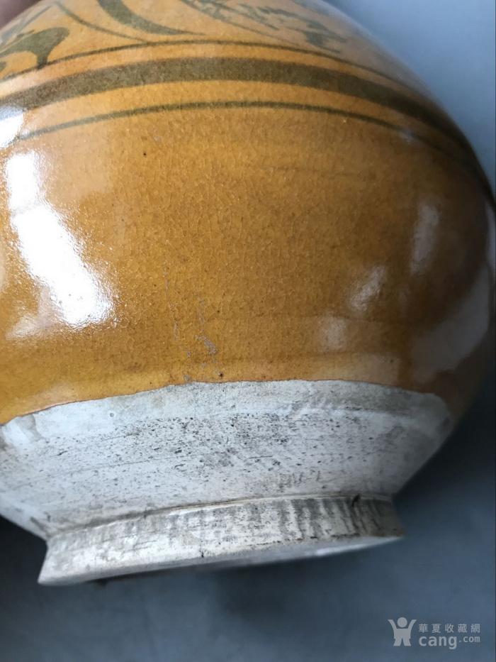 磁州窑花釉玉壶春瓶老窑瓷器图5