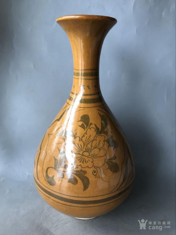 磁州窑花釉玉壶春瓶老窑瓷器图7