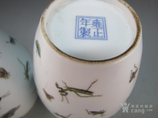 清代珐琅彩昆虫纹赏瓶一对图10