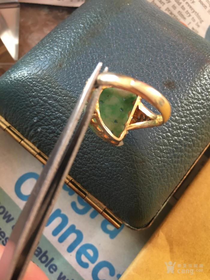 清代银鎏金镶翡翠戒指图11