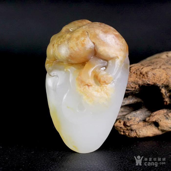 新疆和田玉油皮籽料白玉辟邪灵兽貔貅把件图6