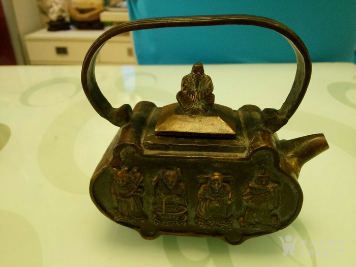 金铜壶《八仙过海》 铜壶图3