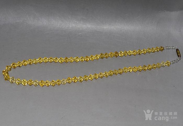 收藏几十年 香港回流精品 出口创汇时期老黄水晶项链佩饰收藏品图2