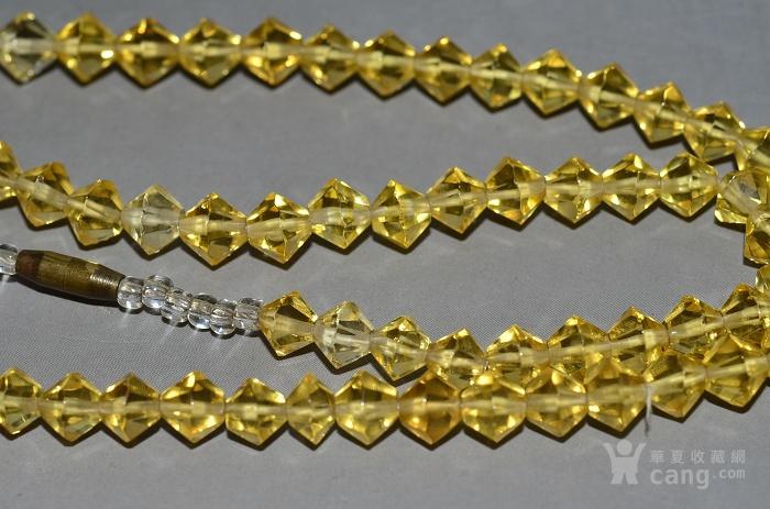 收藏几十年 香港回流精品 出口创汇时期老黄水晶项链佩饰收藏品图5