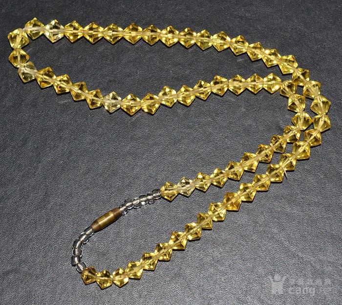 收藏几十年 香港回流精品 出口创汇时期老黄水晶项链佩饰收藏品图3