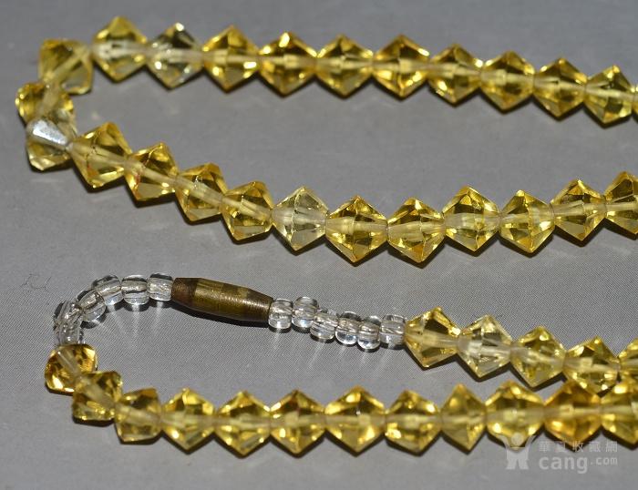 收藏几十年 香港回流精品 出口创汇时期老黄水晶项链佩饰收藏品图6