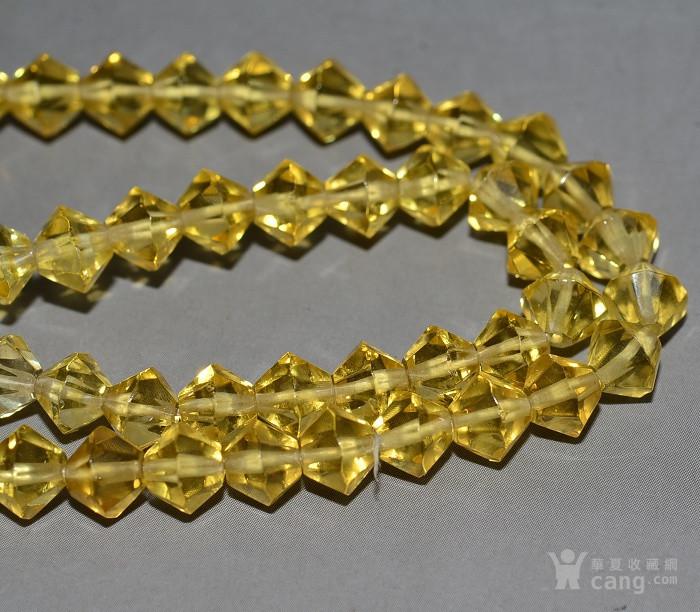 收藏几十年 香港回流精品 出口创汇时期老黄水晶项链佩饰收藏品图4