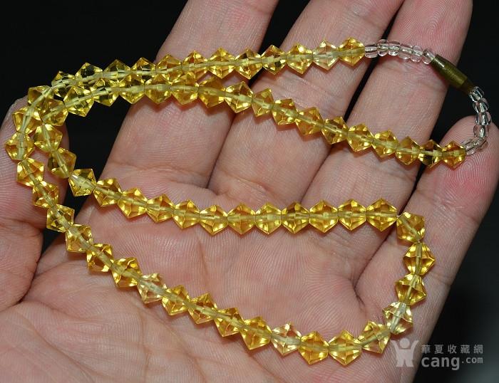 收藏几十年 香港回流精品 出口创汇时期老黄水晶项链佩饰收藏品图7
