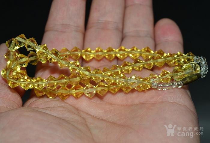 收藏几十年 香港回流精品 出口创汇时期老黄水晶项链佩饰收藏品图8