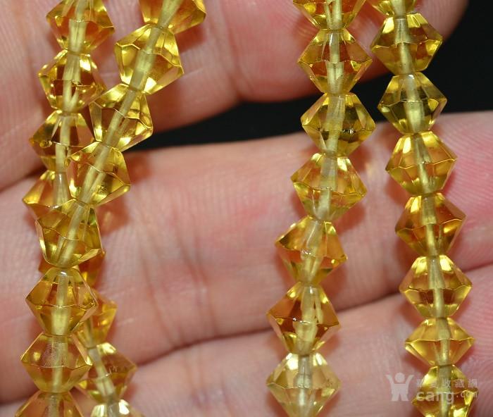 收藏几十年 香港回流精品 出口创汇时期老黄水晶项链佩饰收藏品图10