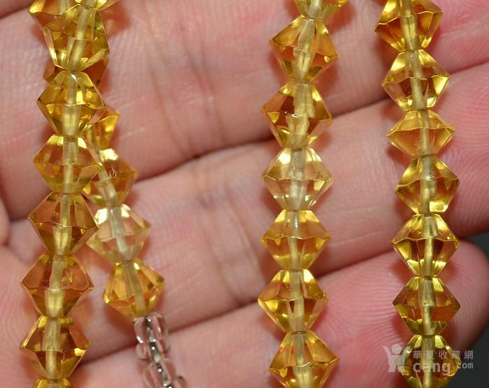 收藏几十年 香港回流精品 出口创汇时期老黄水晶项链佩饰收藏品图11