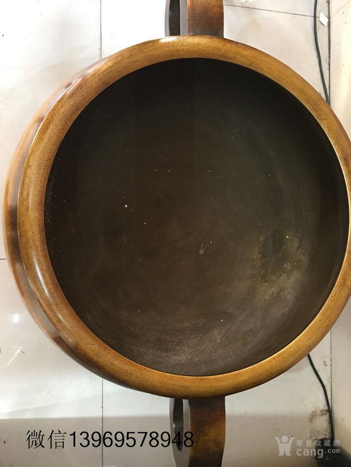 清代传世大件两体铜香炉图4