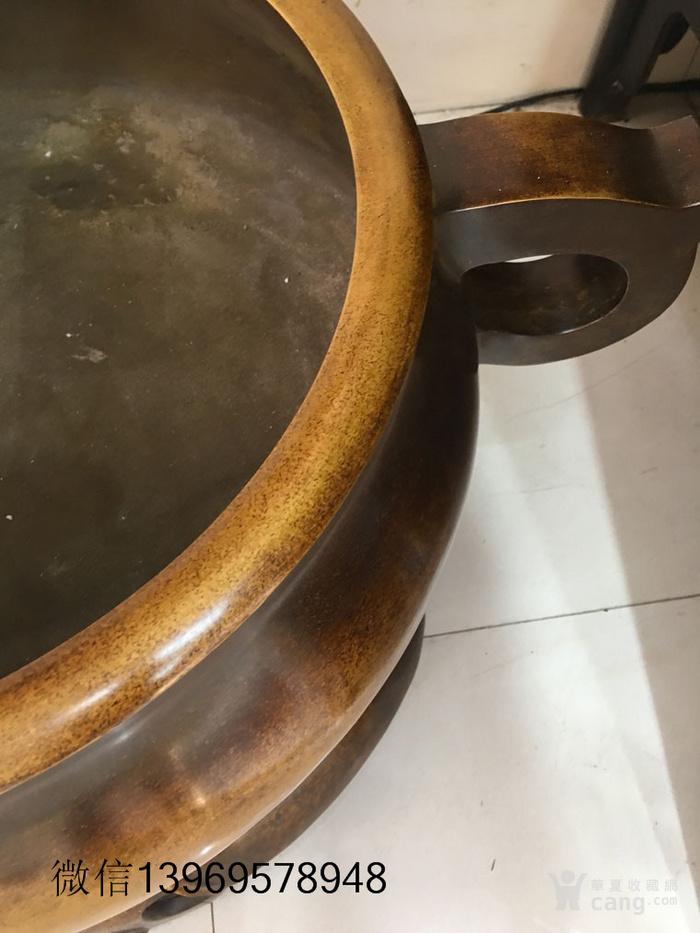 清代传世大件两体铜香炉图8