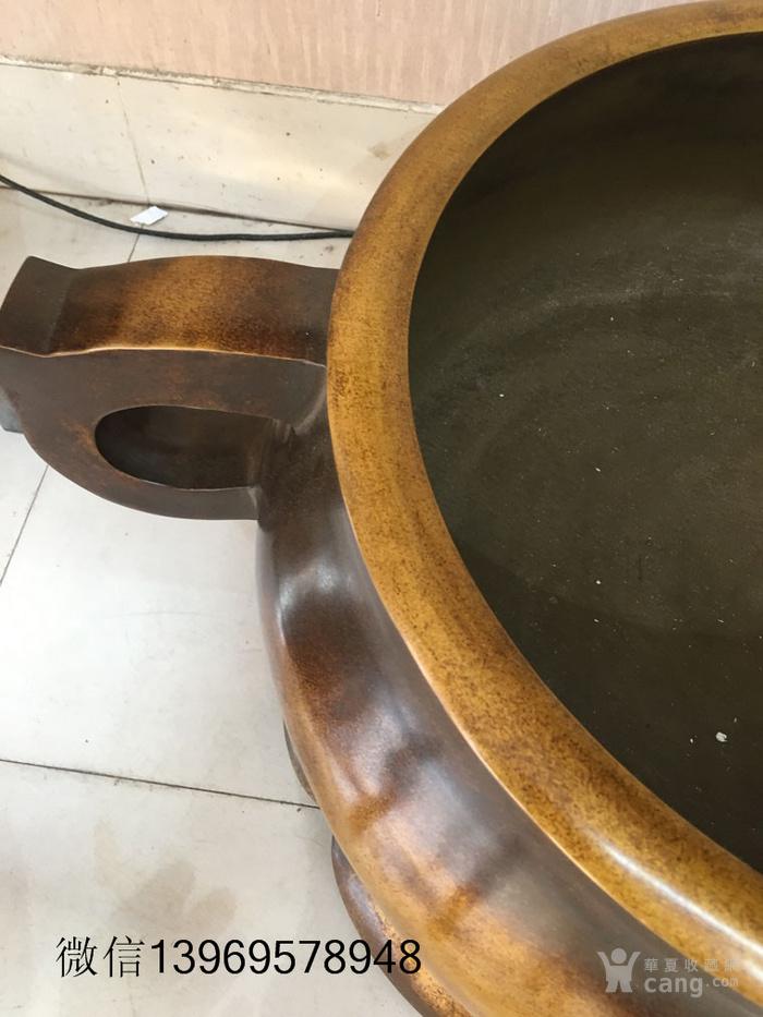 清代传世大件两体铜香炉图7