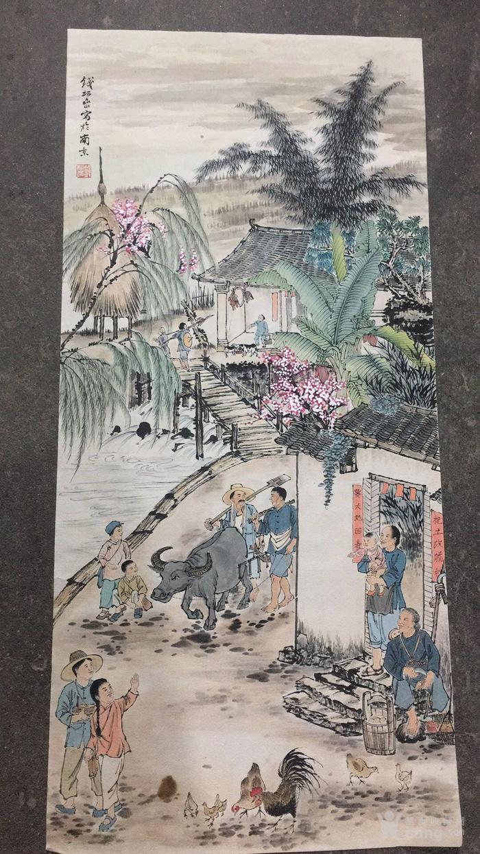 文革时期 画家   绘制的人民生活景象   陆俨少  钱松岩图3
