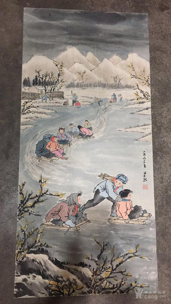 文革时期 画家   绘制的人民生活景象   陆俨少  钱松岩图6