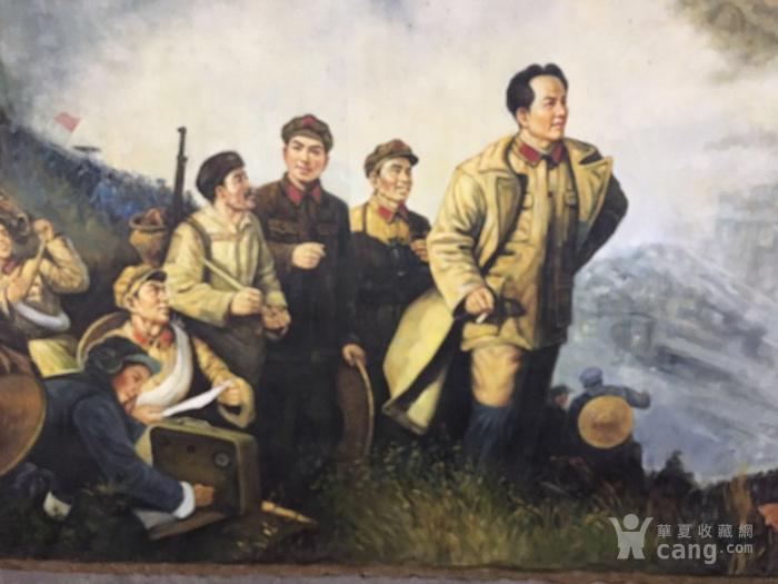 文革油画  秋收起义  毛主席万岁!!!图9