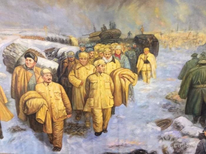 淮海  文革时期油画  毛主席万岁!图2