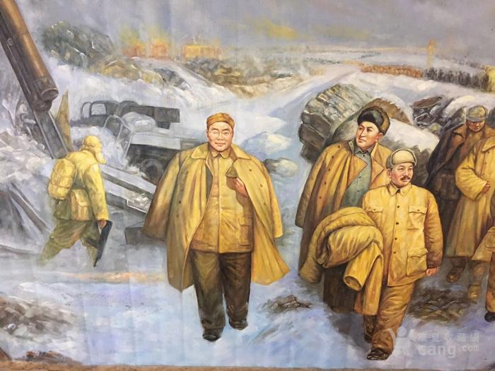 淮海  文革时期油画  毛主席万岁!图3
