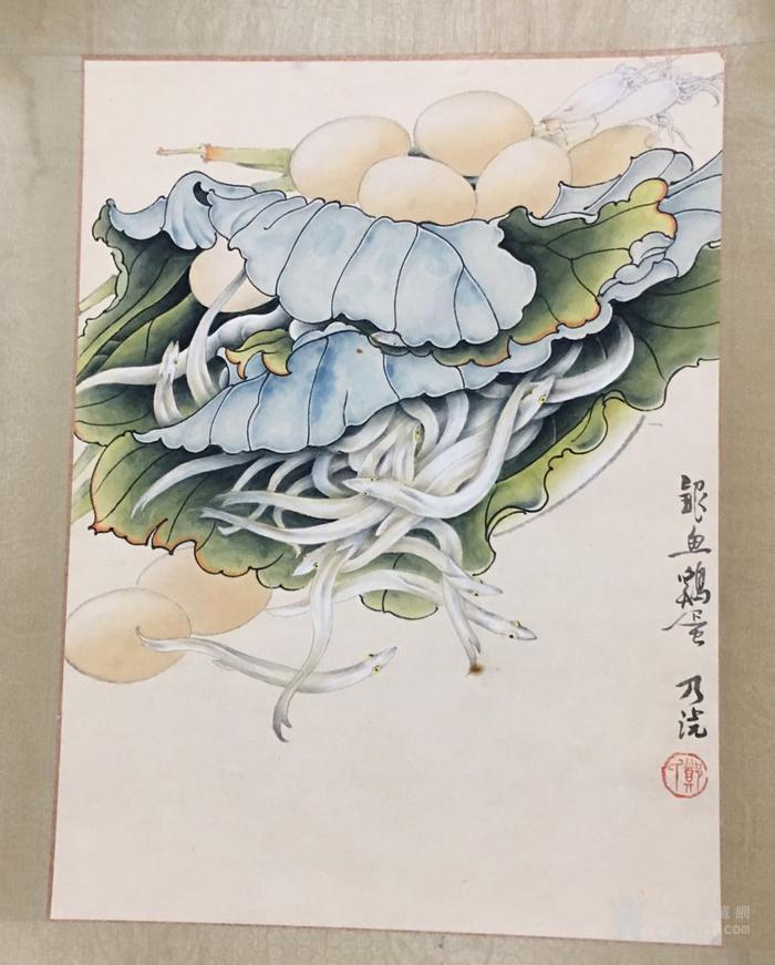郑乃珖  工笔花卉静物   斗方镜片 画的跟真的一样图6