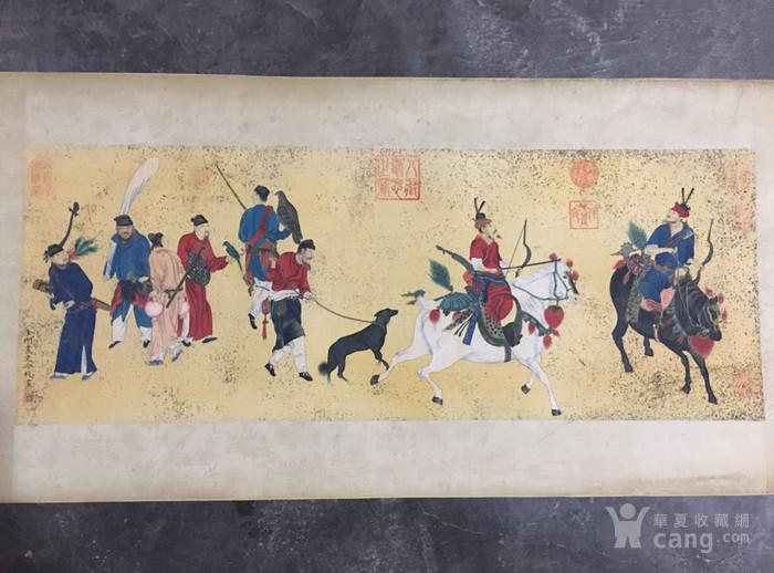 陈枚    清代宫廷画家   霉点 日本老料装裱图1