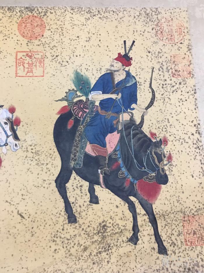 陈枚    清代宫廷画家   霉点 日本老料装裱图2