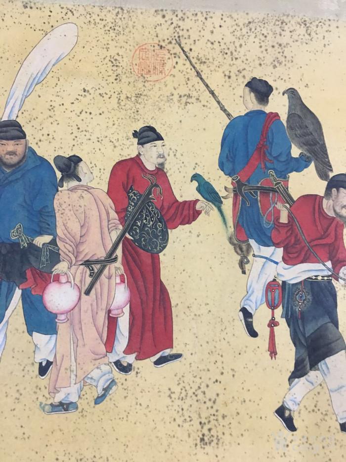 陈枚    清代宫廷画家   霉点 日本老料装裱图4
