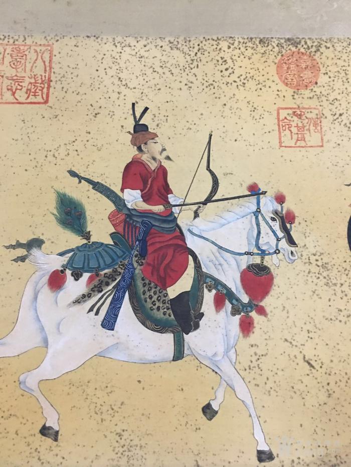 陈枚    清代宫廷画家   霉点 日本老料装裱图3