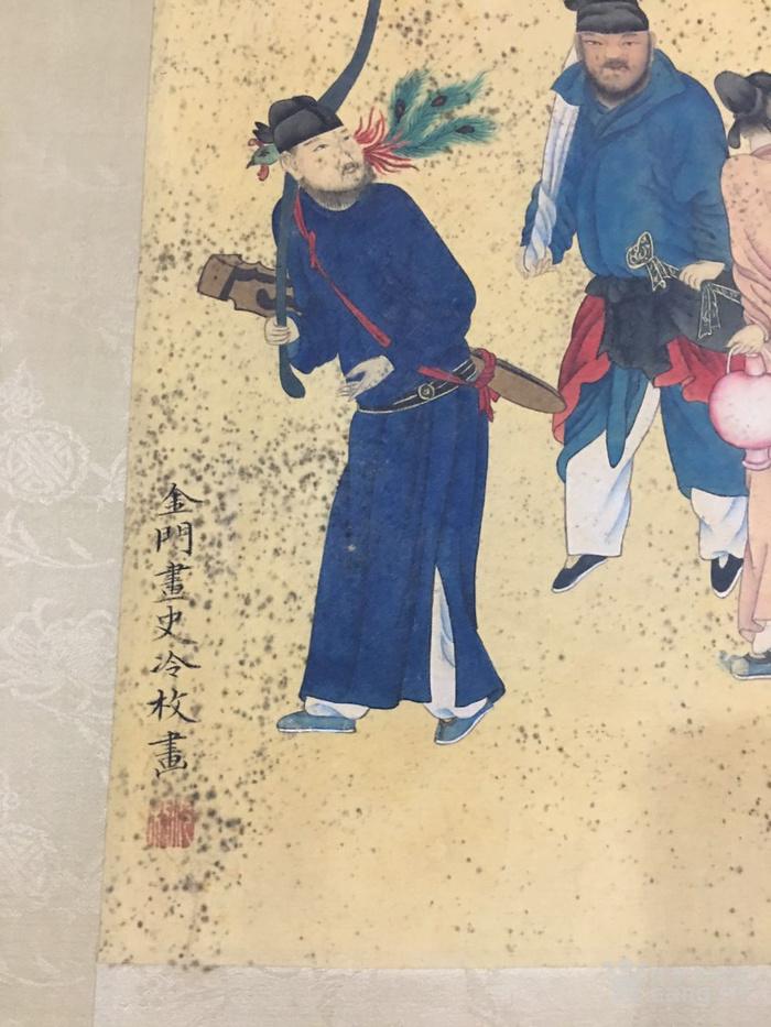 陈枚    清代宫廷画家   霉点 日本老料装裱图5