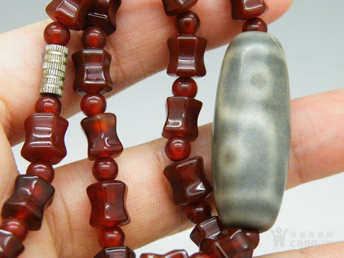 天眼天珠拉萨藏传石榴石手串手链N1851图2