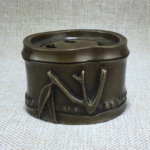 清代竹节黄铜熏炉一件