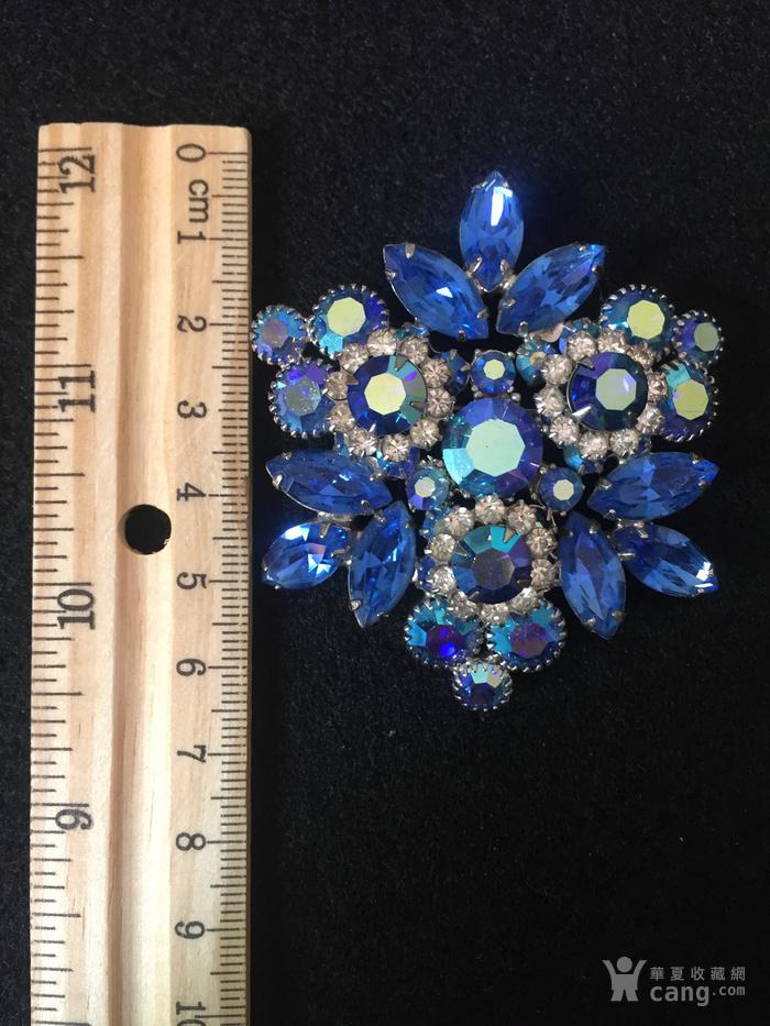 美国回流兴业坊 欧美古董奥地利水晶胸针。豪华型。图5