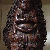 竹根雕佛像