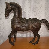 黑漆古 铜马