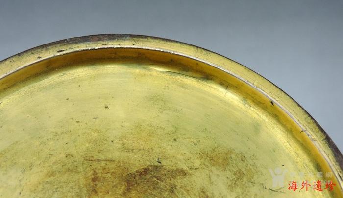 清代 天利款紫铜胎珐琅缠枝莲纹尊 高32厘米图9