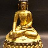 铜鎏金释迦牟尼佛 高24cm