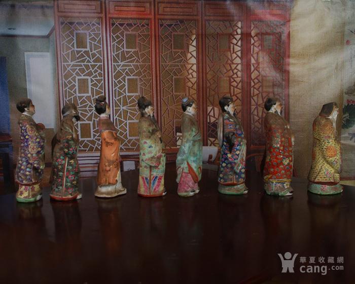 文革老厂瓷器 站八仙雕塑一套图4