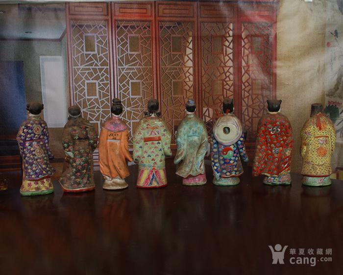 文革老厂瓷器 站八仙雕塑一套图5