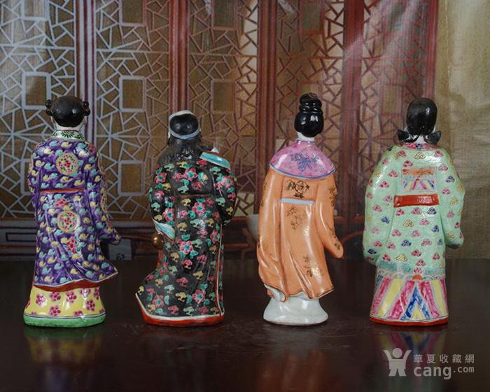 文革老厂瓷器 站八仙雕塑一套图7