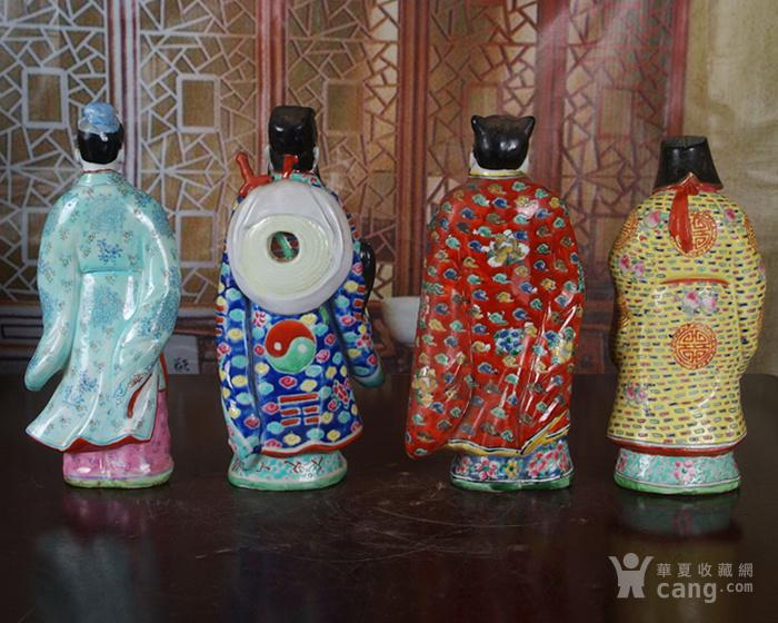 文革老厂瓷器 站八仙雕塑一套图9