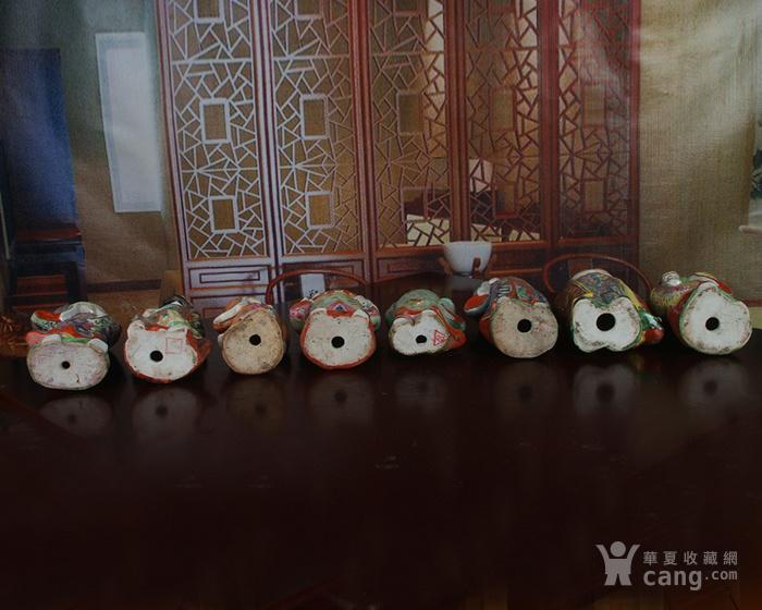 文革老厂瓷器 站八仙雕塑一套图10