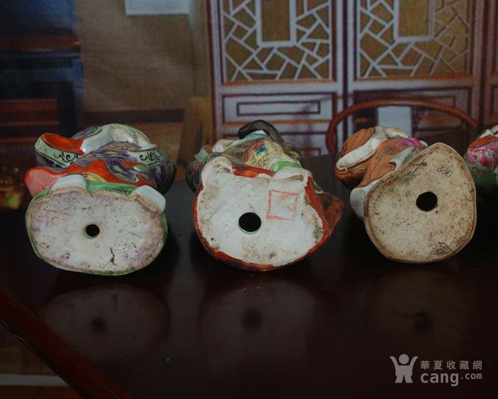 文革老厂瓷器 站八仙雕塑一套图11